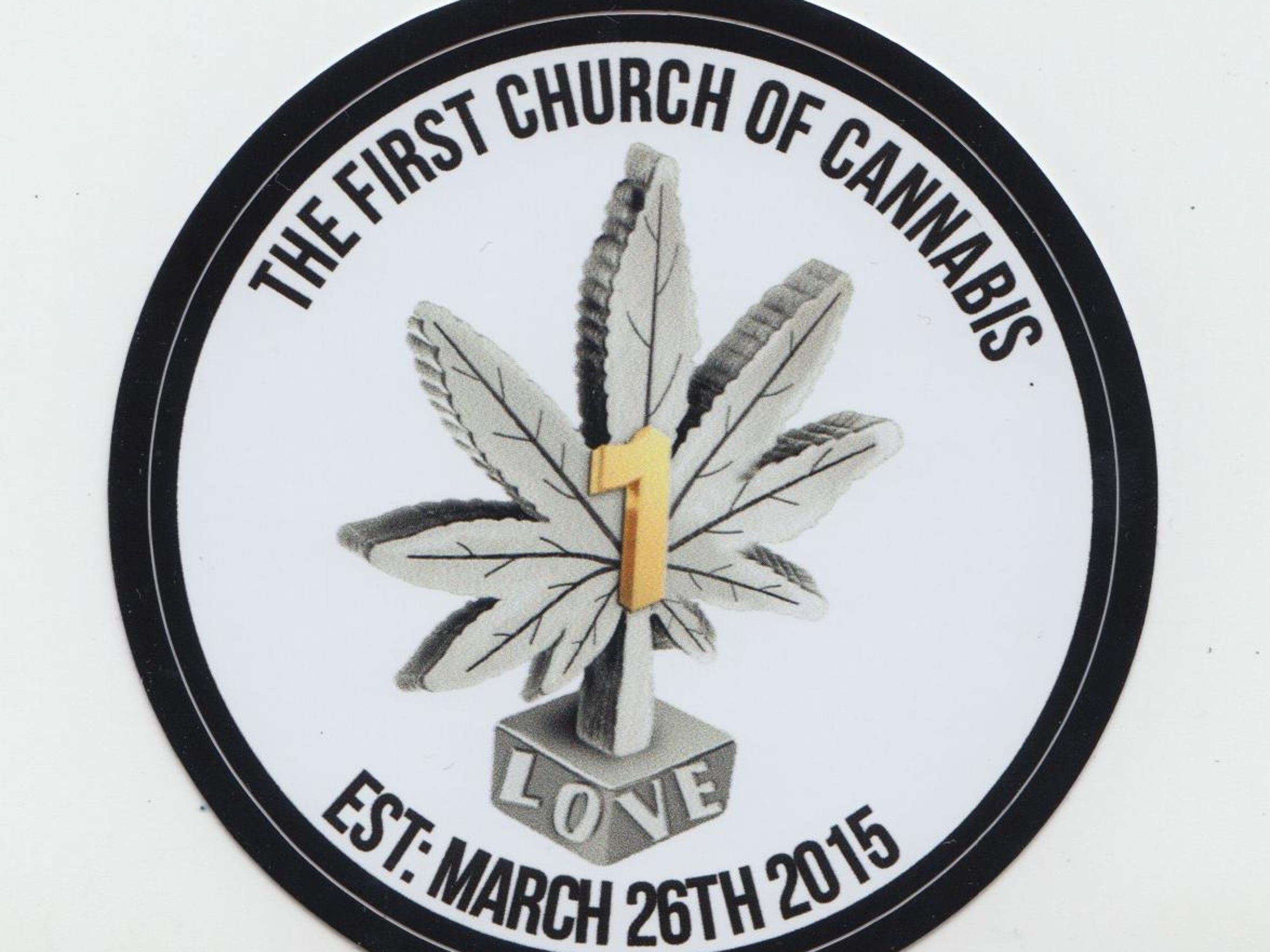 Church of cannabis sticker