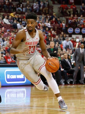 Ohio State's JaQuan Lyle plays against Marshall during an NCAA college basketball game Friday, Nov. 25, 2016, in Columbus, Ohio. (AP Photo/Jay LaPrete)
