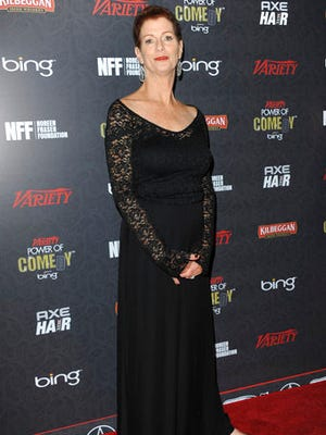 FILE - In this Nov. 17, 2012 file photo, Noreen Fraser arrives at Variety Power of Comedy at Avalon Hollywood in Los Angeles. The family of Fraser, a TV producer and co-founder of Stand Up to Cancer, says she has died at age 63. Fraser's family said she died Monday, March 27, 2017, at her Los Angeles home of metastatic breast cancer.