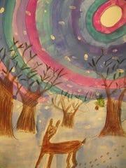 Nicholas Albra, a student at Glenham Elementary School, created this piece for the Beacon exhibit.