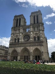 Natre Dame Cathedral in Paris was the site of a shooting