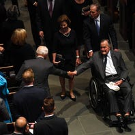President George H.W. Bush 'alert and talking' as he leaves ICU