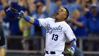 Salvador Perez came through with a 12th-inning walk-off single in the AL wild card game.