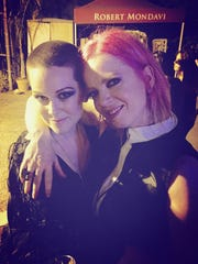 After her diagnosis with breast cancer, Raven Quinn, left, had the opportunity to meet Garbage singer Shirley Manson backstage at a Garbage concert. Manson later posted an open letter of support to Raven on Garbage's website.
