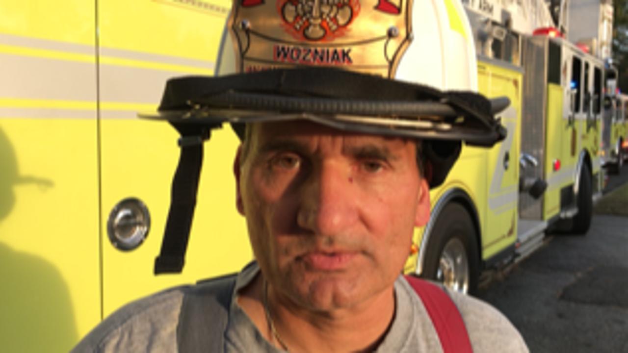 Wayne firefighters battle general alarm blaze that begins with ember from fire pit, says Wayne Fire Commissioner John Wozniak