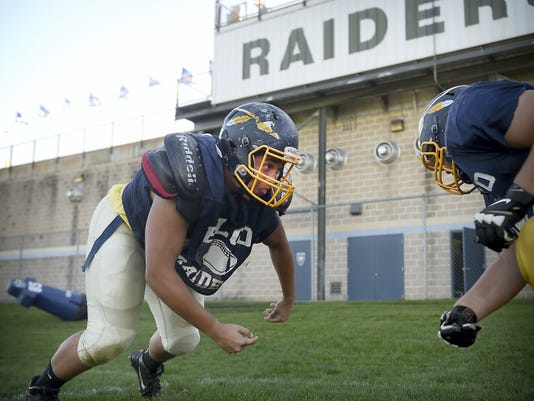 Tony Rodriguez confronts football practice drills in the same way he faces adversity in life — head on.