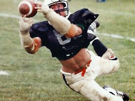 Garth Hoffman is shown here during his playing days at York Suburban in the early 1980s. He was a middle linebacker and tight end.