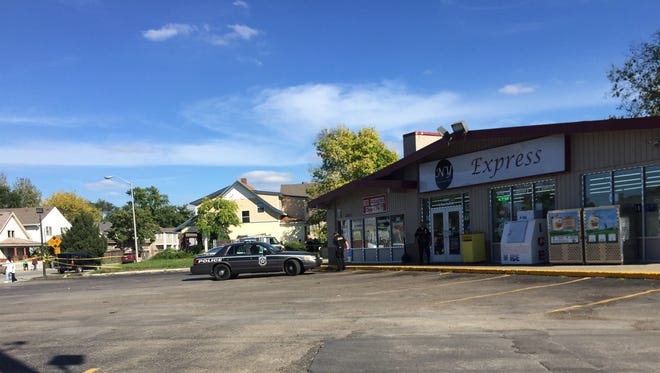 A shooting Sunday afternoon occurred just outside this convenience store at the corner of New York and Rural streets.