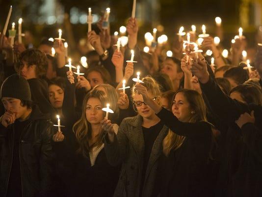 NAU shooting candlelight vigil