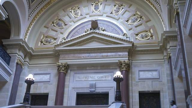 The Wisconsin Supreme Court chambers in the Capitol.