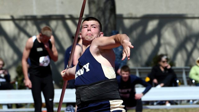 Cody Ogden placed sixth in the NCAA Championships men's javelin competition Wednesday in Eugene, Ore. Ogden graduated from Loving High in 2012.