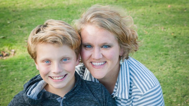 Ethan Allen, left, and his mother Kaci Allen, are organizing an Easter egg hunt geared toward kids with special needs.