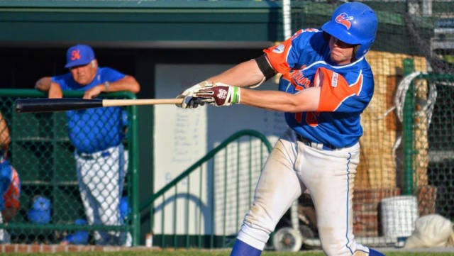 Matthew Britton is hitting better than .300 for Hyannis in the Cape Cod league.