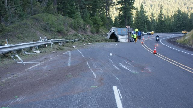 A truck crashed, killing the driver, Friday morning on Highway 58.