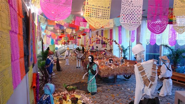 Day of the Dead celebration at New Rochelle Public Library.