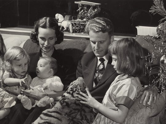 Billy Graham, his wife, Ruth and children.