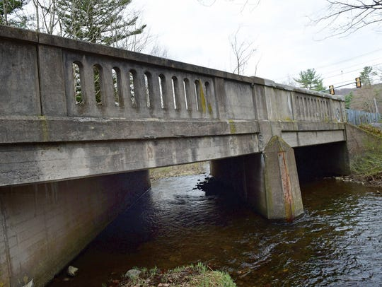 A bridge at Pa. 233 south of U.S. in Caledonia is pictured