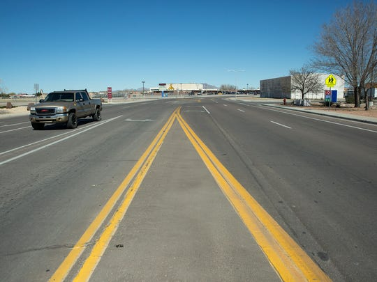 """N. Motel Blvd, will soon also be known as """"coach Jim Bradley Championship Way"""" after the Las Cruces City Council approved a resolution designating Motel,Tashiro dr. Memorial roadways'. Tuesday, February 21, 2017."""