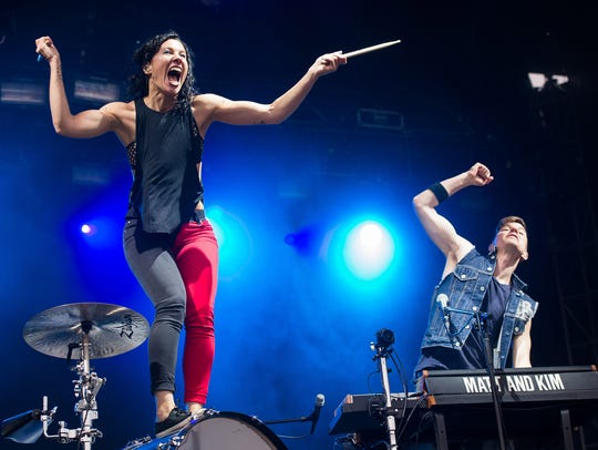 Electronic music duo Matt and Kim play the New Daisy on Thursday.