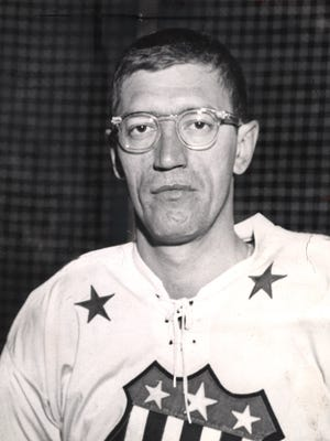Al Arbour, shown here in 1963, was a 1st-team AHL All-Star for four consecutive seasons with the Rochester Americans.