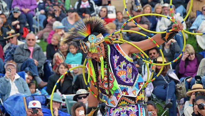 Brian Hammill (Ho-Chunk), 2011 World Adult Champion Hoop Dancer, will perform July 19 at Free Summer Sundays at the Heard Museum in Phoenix.