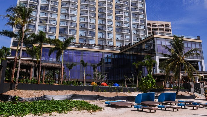 The 30-story Dusit Thani Guam Resort photographed from