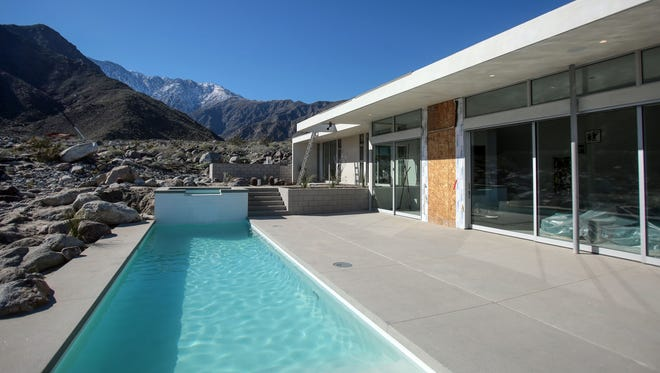 View of Mt. San Jacinto from a new house under construction in Desert Palisades by Palm Springs architect Lance O'Donnell on Thursday, January 26, 2017.