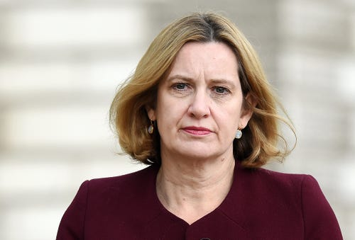 British Home Secretary Amber Rudd resigns amid immigration scandal.