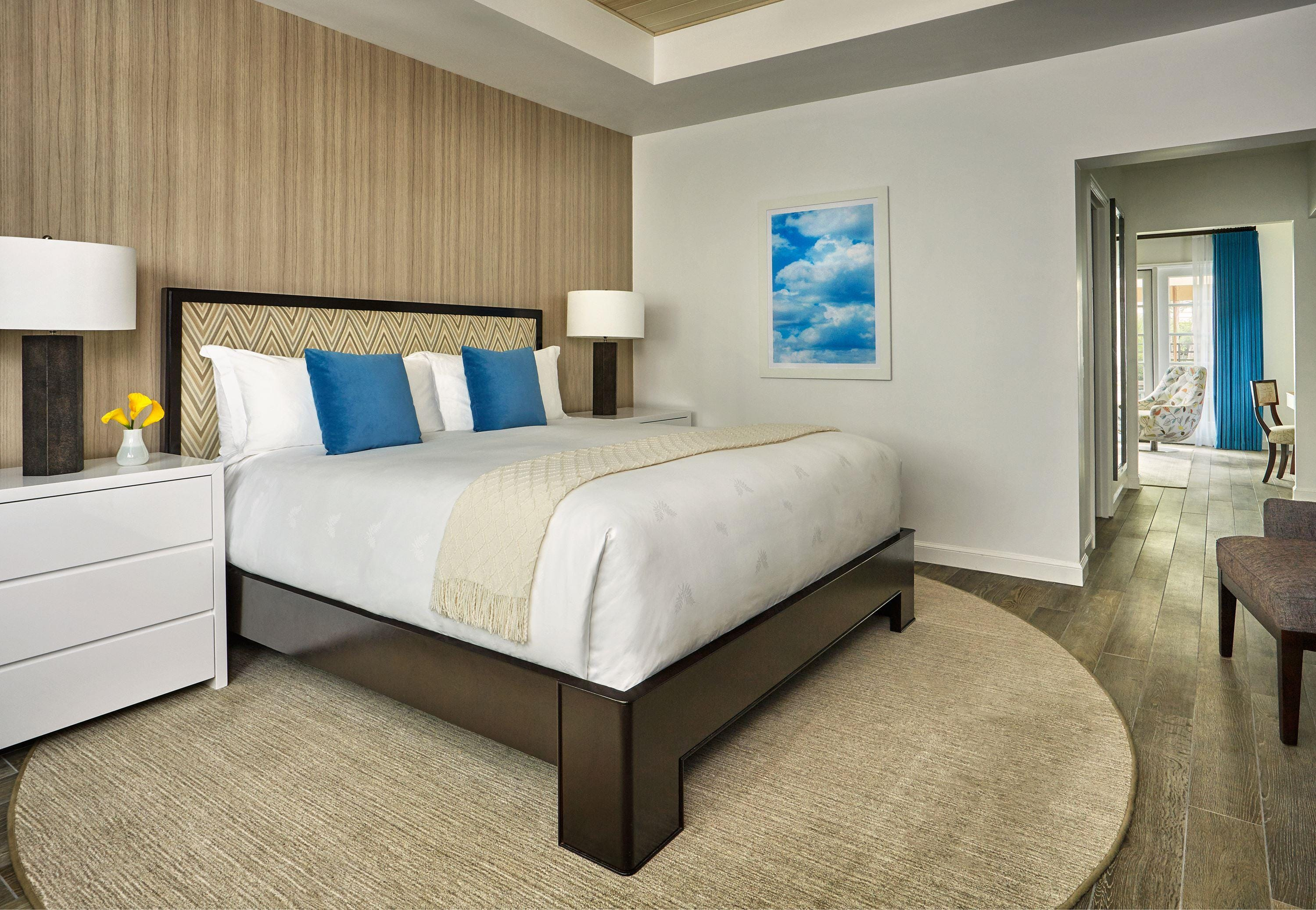 The Master Bedroom At The Fairmont Miramar Hotel And