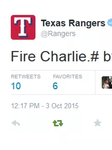 A tweet calling for Charlie Strong to be fired from