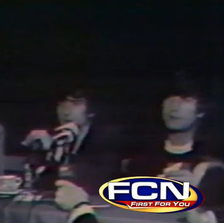 Old footage of The Beatles at a press conference in Jacksonville.