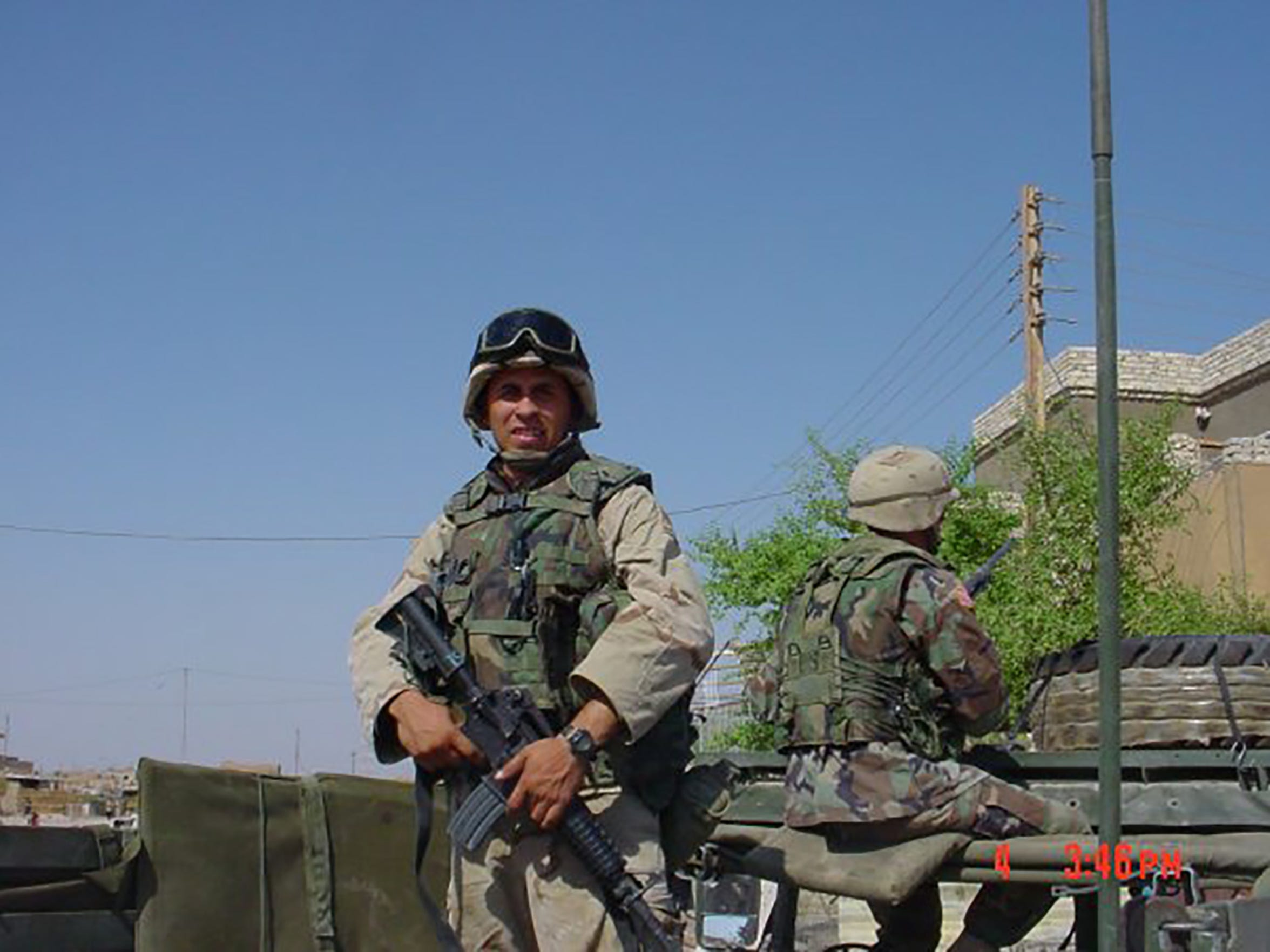 Jeff Bohn served as an Army medic in the Iraq War. He spend eight months patrolling the city and treating the injured.