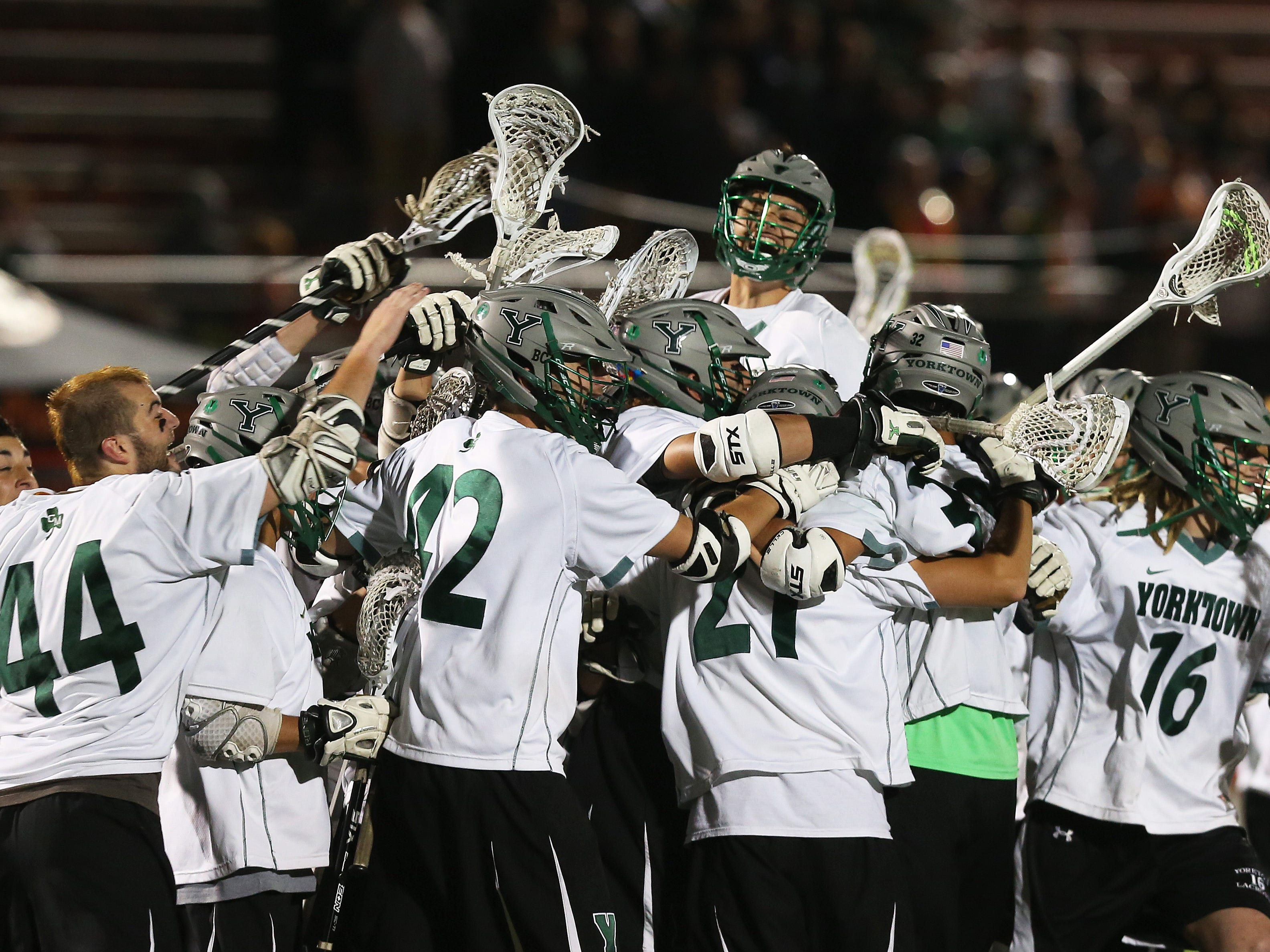 Yorktown withstood a late comeback bid by John Jay in the Class B final.