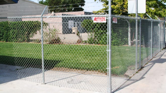 This new fencing was installed recently on the northwest corner of the pool park in Yerington, causing some concerns from residents who appeared at Monday's Mason Valley Pool GID board meeting.
