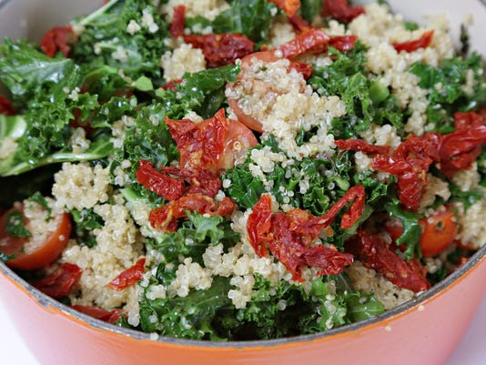 Warm Kale with Quinoa