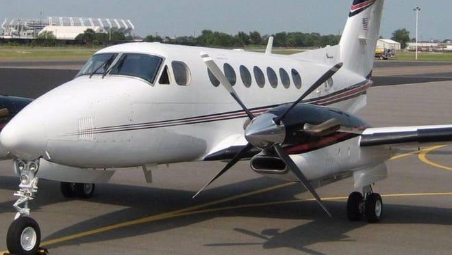 University of South Carolina's 9-seat Beechcraft King Air 35.