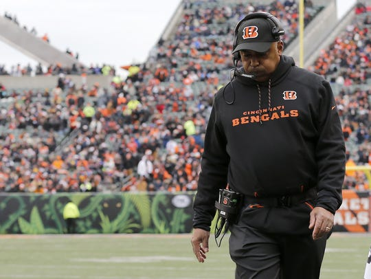 Sam Greene Cincinnati Bengals head coach Marvin Lewis