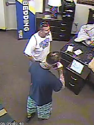 Suspect in a robbery at Buddy's Home Furnishing in Fort Myers.