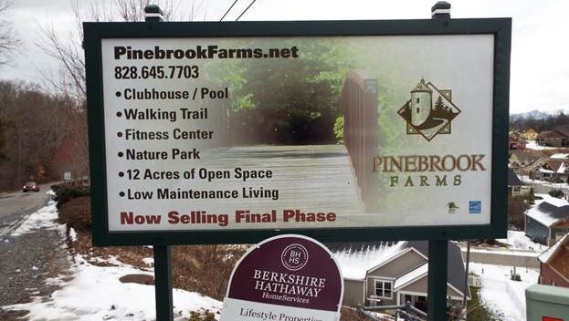 Authorities are seeking the suspect or suspects in a shooting at the entrance of the Pinebrook Farms development on Monday.