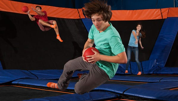 Work up a good sweat playing Ultimate Dodge Ball at Sky Zone Indoor Trampoline Park.