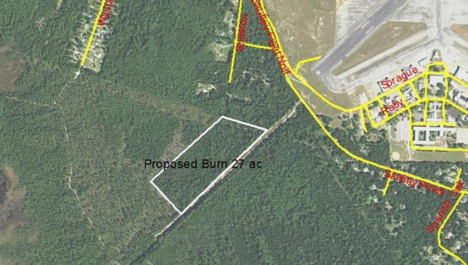 Map of the prescribed burn area.