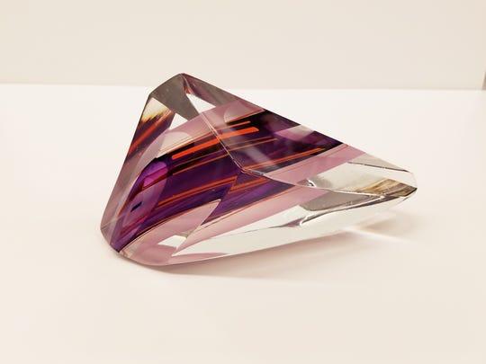 "Harvey Littleton, ""Purple into Orange Sculpture"", Glass, 1987."