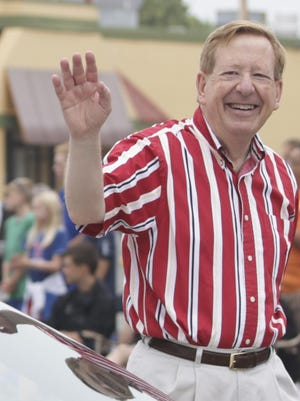 Carmel Mayor Jim Brainard during the city's Fourth of July Parade, July 4, 2016.