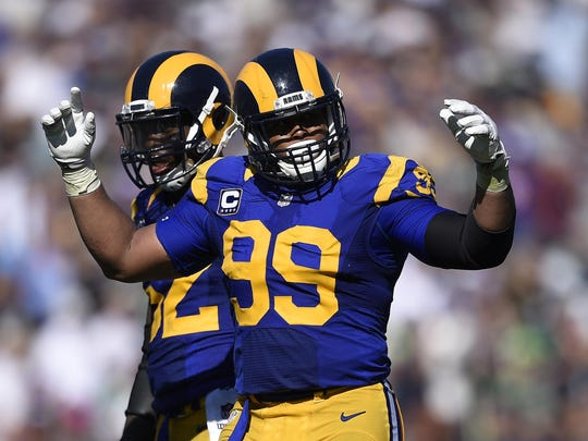Rams DT Aaron Donald has 22 sacks in 37 games since being drafted three spots after the Lions took Eric Ebron 10th overall in the 2014 draft.