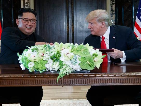 President Trump and North Korean leader Kim Jong Un