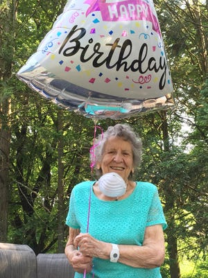 "Sylvia ""Sip"" Webman of Worcester at her 100th birthday party on July 2. Her birthday was actually July 4."