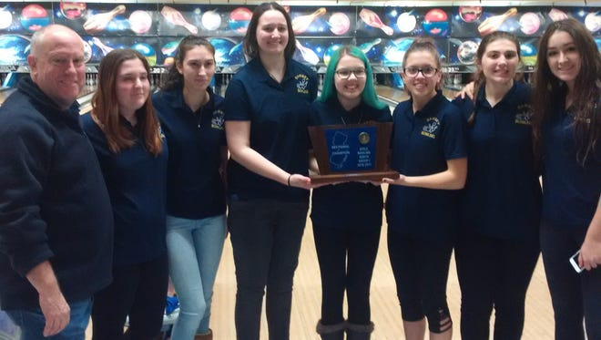 The Ramsey girls bowling team captured its first state-sectional title by winning Group 1 at Saturday's North tournament at Bowler City in Hackensack.