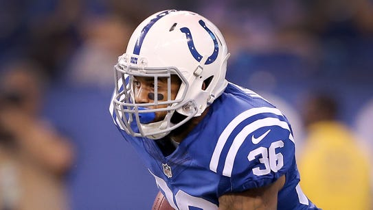 Indianapolis Colts running back Dan Herron (36) in