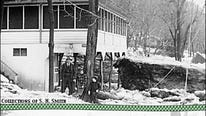 During the last week of February 1945, a large ice jam in the Susquehanna River caused large chunks of ice, some over...