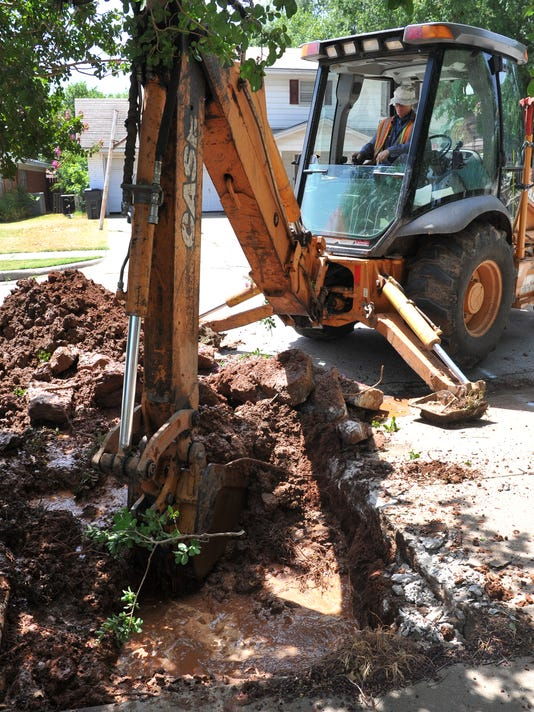 City sees a slight rise in summertime water repairs